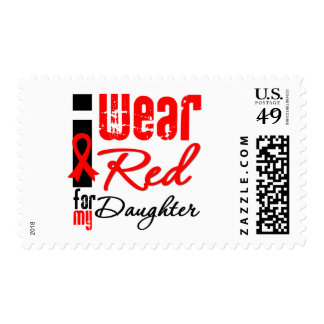 I Wear a Red Ribbon For My Daughter Stamp