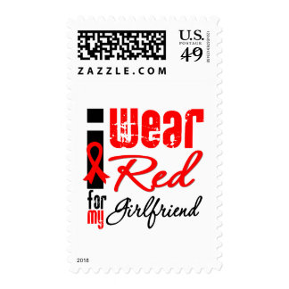 I Wear a Red Ribbon For My Girlfriend Stamps