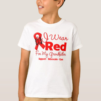 I Wear a Red Ribbon For My Grandfather T-Shirt