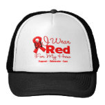 I Wear a Red Ribbon For My Hero Hat