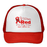I Wear a Red Ribbon For My Hero Hats