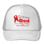 I Wear a Red Ribbon For My Hero Trucker Hat