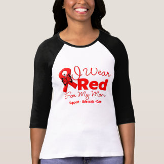 I Wear a Red Ribbon For My Mom Shirt