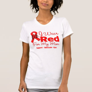 I Wear a Red Ribbon For My Mom Tee Shirt