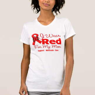 I Wear a Red Ribbon For My Mom T-shirt