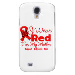 I Wear a Red Ribbon For My Mother Galaxy S4 Cases