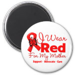 I Wear a Red Ribbon For My Mother Magnets