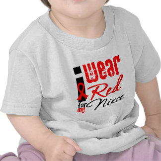 I Wear a Red Ribbon For My Niece Tee Shirts