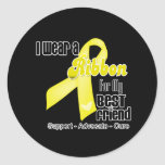 I Wear a Ribbon For My Best Friend - Sarcoma Sticker