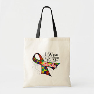 I Wear a Ribbon For My Brother - Autism Awareness Canvas Bag