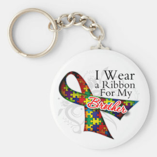 I Wear a Ribbon For My Brother - Autism Awareness Key Chains