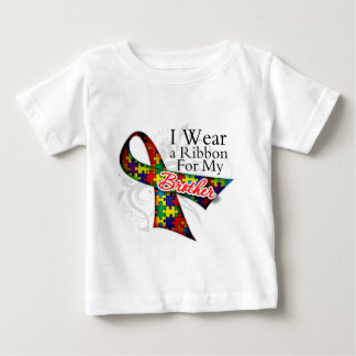 I Wear a Ribbon For My Brother - Autism Awareness T Shirt
