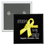 I Wear a Ribbon For My Brother - Sarcoma 2 Inch Square Button