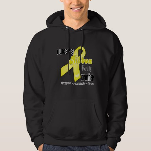 I Wear a Ribbon For My Brother - Sarcoma Hooded Sweatshirts