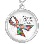 I Wear a Ribbon For My Cousin - Autism Awareness Necklaces