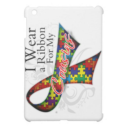 I Wear a Ribbon For My Cousins - Autism Awareness iPad Mini Cover