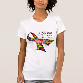 I Wear a Ribbon For My Daughter - Autism Awareness T-shirt