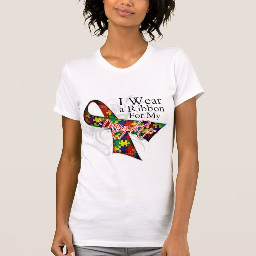 I Wear a Ribbon For My Daughter - Autism Awareness T-shirts