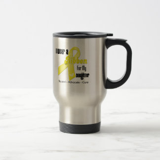 I Wear a Ribbon For My Daughter - Sarcoma 15 Oz Stainless Steel Travel Mug