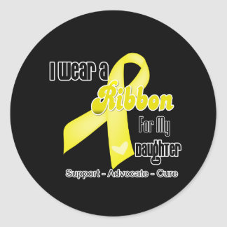 I Wear a Ribbon For My Daughter - Sarcoma Classic Round Sticker