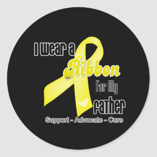 I Wear a Ribbon For My Father - Sarcoma Classic Round Sticker