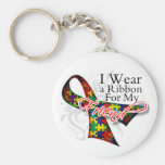 I Wear a Ribbon For My Friend - Autism Awareness Key Chain