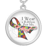 I Wear a Ribbon For My Friend - Autism Awareness Necklaces