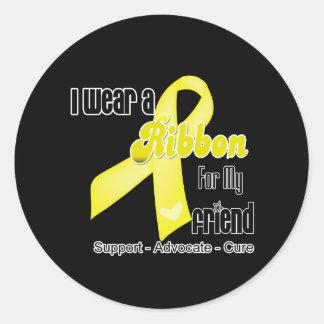 I Wear a Ribbon For My Friend - Sarcoma Classic Round Sticker