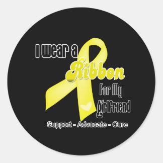 I Wear a Ribbon For My Girlfriend - Sarcoma Classic Round Sticker