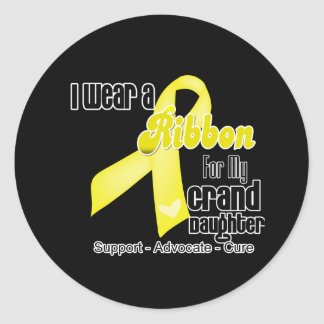 I Wear a Ribbon For My Granddaughter - Sarcoma Classic Round Sticker