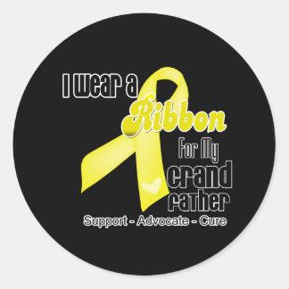 I Wear a Ribbon For My Grandfather - Sarcoma Classic Round Sticker
