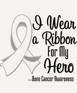 I Wear a Ribbon For My Hero - Bone Cancer T Shirt