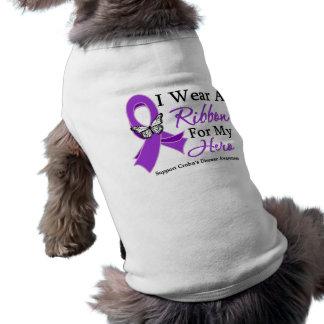 I Wear A Ribbon For My HERO Crohn's Disease Doggie Tee Shirt