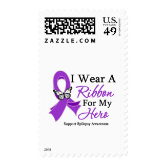 I Wear A Ribbon For My HERO Epilepsy Stamps