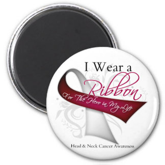 I Wear a Ribbon For My Hero - Head and Neck Cancer 2 Inch Round Magnet