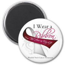 I Wear a Ribbon For My Hero - Head and Neck Cancer Magnet