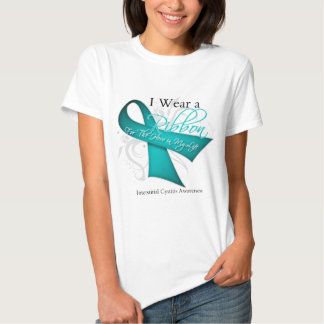 I Wear a Ribbon For My Hero Interstitial Cystitis T Shirt