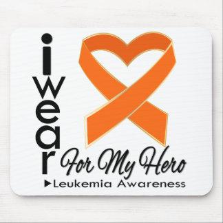 I Wear a Ribbon For My Hero - Leukemia Awareness Mouse Pad