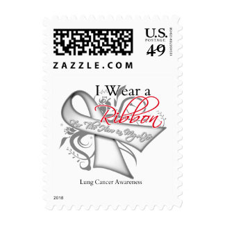 I Wear a Ribbon For My Hero - Lung Cancer Postage Stamps
