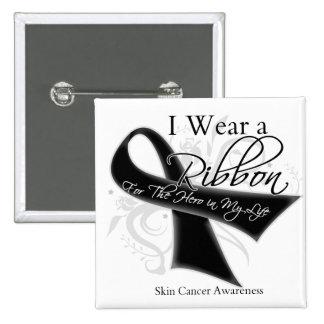 I Wear a Ribbon For My Hero - Melanoma Pins