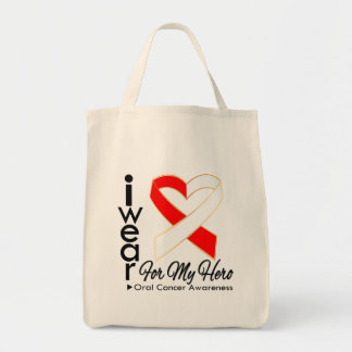 I Wear a Ribbon For My Hero - Oral Cancer Bags