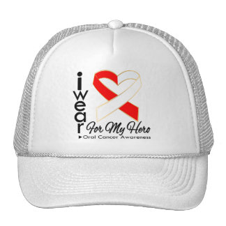 I Wear a Ribbon For My Hero - Oral Cancer Hat