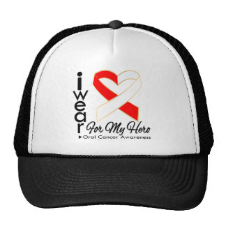 I Wear a Ribbon For My Hero - Oral Cancer Hats