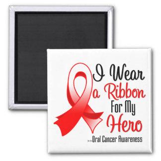 I Wear a Ribbon For My Hero - Oral Cancer Fridge Magnet