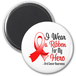 I Wear a Ribbon For My Hero - Oral Cancer Magnets