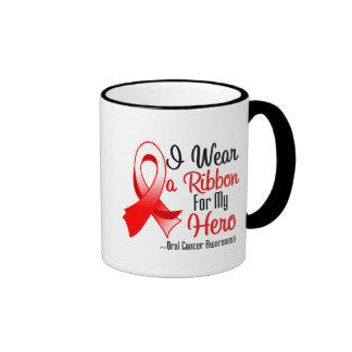 I Wear a Ribbon For My Hero - Oral Cancer Coffee Mug