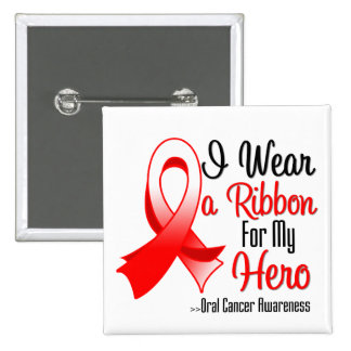 I Wear a Ribbon For My Hero - Oral Cancer Pin
