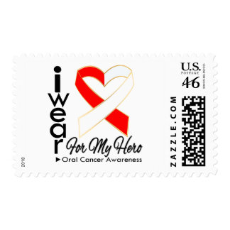 I Wear a Ribbon For My Hero - Oral Cancer Postage