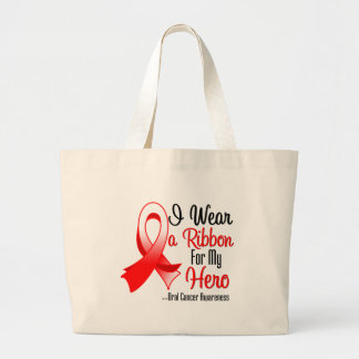 I Wear a Ribbon For My Hero - Oral Cancer Tote Bag