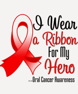 I Wear a Ribbon For My Hero - Oral Cancer Tee Shirts